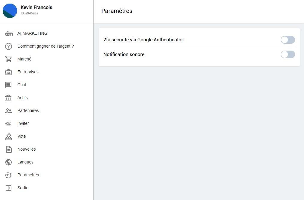 """""""2FA sécurité via Google Authenticator"""""""